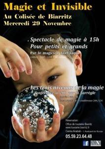 Spectacle de magie pour petits et grands par le magicien Axel Lupin au Colisée de Biarritz