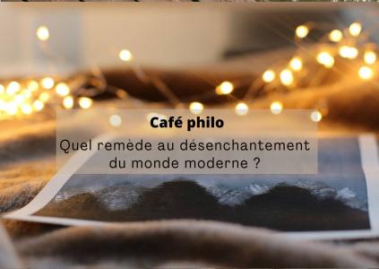 Café philo : quel remède au désenchantement du monde moderne ?