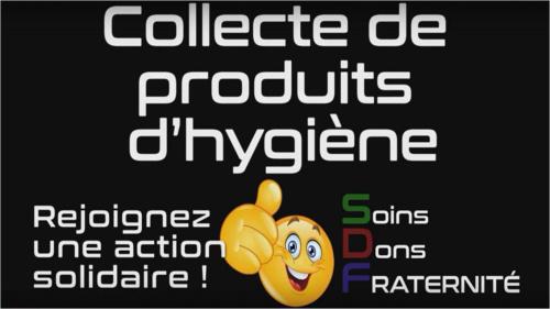 Collecte de produits d'hygiène pour les sans-abris