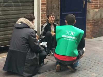 Maraude pour les sans-abris
